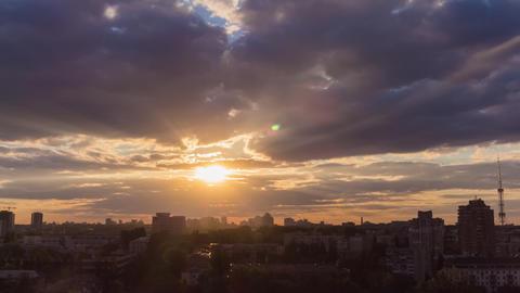 City Sunset 12 Footage