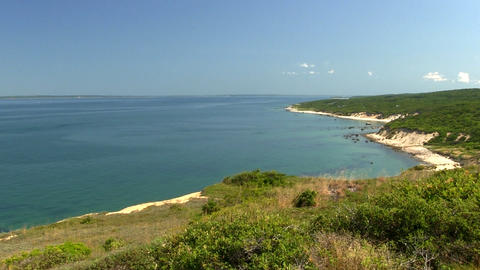 Top of great sandbank lookout, part of Menemsha Hills Reservation on Martha's Vi Footage