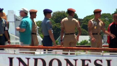 Sailing cadets Dewaruci tall ship Footage