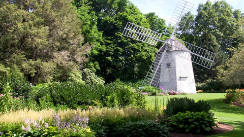 Old east windmill at Heritage Plantation sits amongst the beautifully landscaped Footage