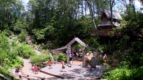 Hidden Hollows Family Adventure Garden exhibit at Heritage Museums and Gardens o Live Action