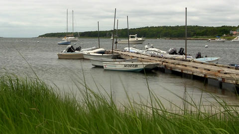 Docked boats Cape Cod Footage