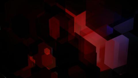 glossy hexagonal overlay Animation
