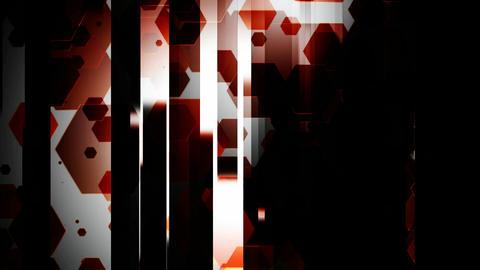 red hexagonal slide Animation