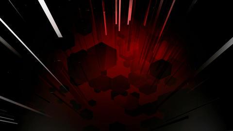 line burst hexagons Animation