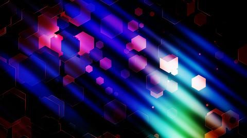 hexagonal colorful light Animation