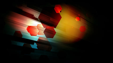 hexagonal bokeh lines Animation