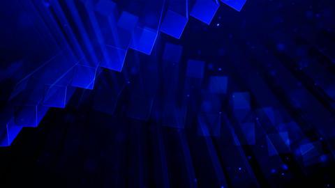 blue block waving Animation