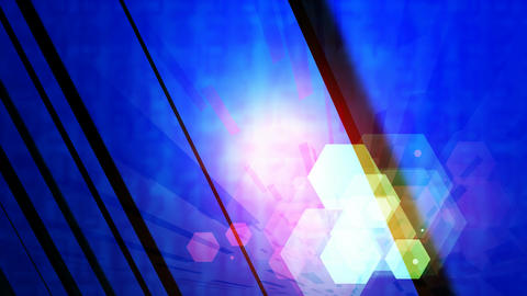 colorful hexa lights Animation