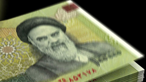 Counting Iranian Rial Animation