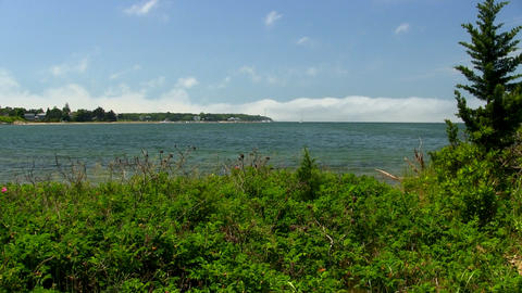 Buzzards bay from Bennets Neck Pocasset Bourne Cape Cod Footage