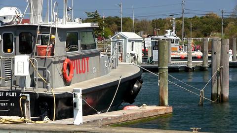 Pilot Boat Marina Cape Cod stock footage
