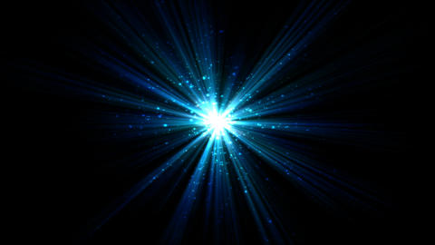 Bright Star and Light Animation - Loop Blue Animation