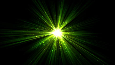 Bright Star and Light Animation - Loop Green Animation