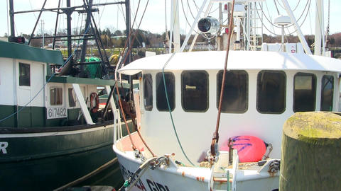 Docked fishing boats cape cod; 2 Footage