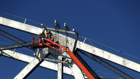 Cape cod canal bridge workers; 4 Footage