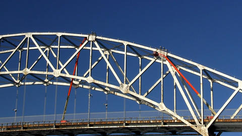 Cape cod canal bridge workers; 2 Footage