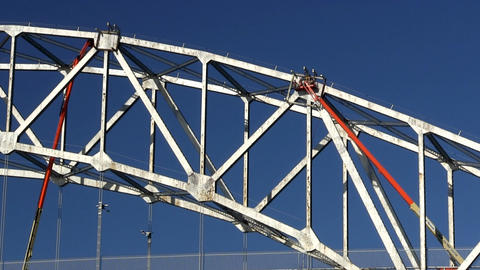 Cape cod canal bridge workers; 6 Footage
