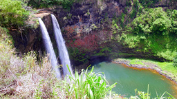 Opeaka Falls Kauai Hawaii Footage