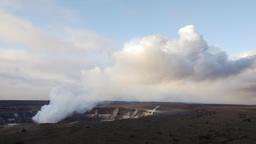 Smoking Kilauea volcano during morning Footage