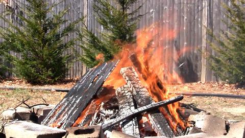 Blazing fire pit Footage