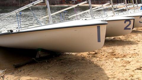 420 racing sailboats Footage