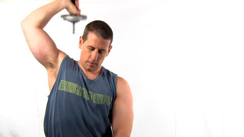 Pumping iron fitness workout; 6 Footage