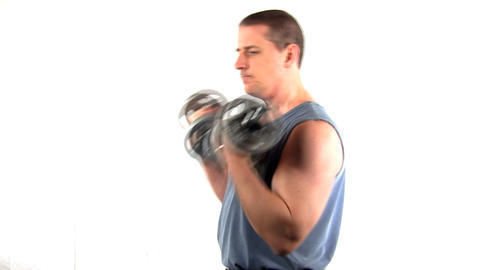 Pumping iron fitness workout; 4 Footage
