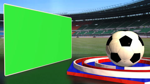 Football News Update Broadcast Television Red Blue Color stock footage