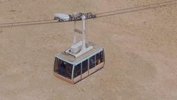 Gondola, Cable Car up and down at Masada, Israel Footage
