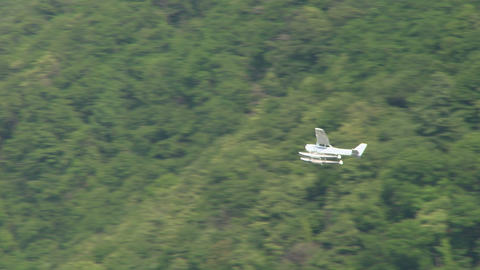 seaplane fly 11 Stock Video Footage
