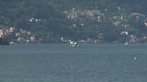 seaplane landing 12 Stock Video Footage