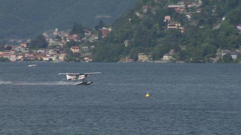 seaplane takeoff 11 e Stock Video Footage