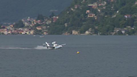seaplane takeoff 13 e Stock Video Footage