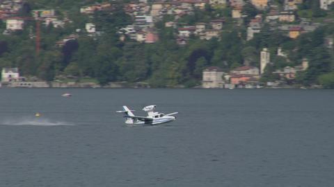 seaplane takeoff 13 e Stock Video Footage