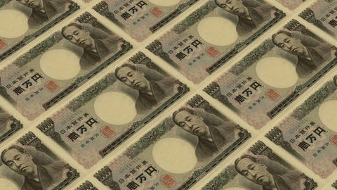 10000 japanese yen,Printing Money Animation Stock Video Footage