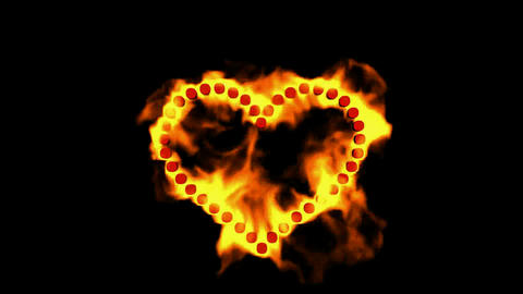 burning dots shaped heart,valentine's day energy heart Stock Video Footage