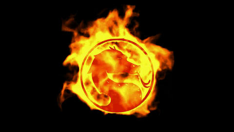 fire dragon symbol Stock Video Footage