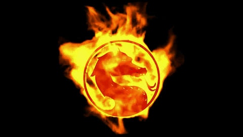 fire dragon symbol Animation