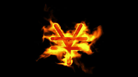fire RMB symbol Animation