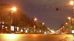 Kiev Kreschatik Stock Video Footage