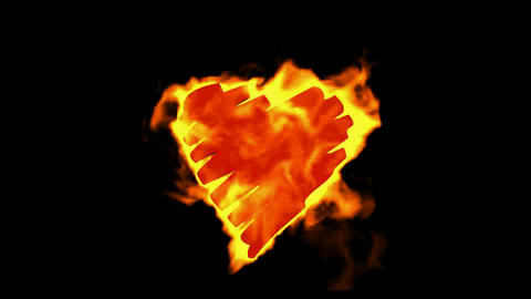 burning drawing heart,valentine's day energy heart Stock Video Footage
