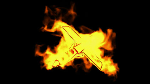 burning fighter symbol Stock Video Footage