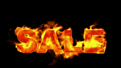 burning sale word,hot sale Stock Video Footage