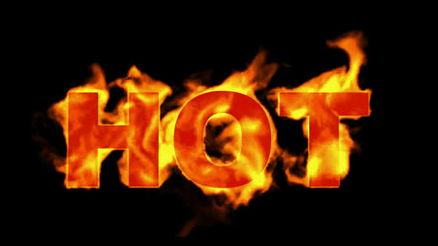 burning hot word in fire Stock Video Footage