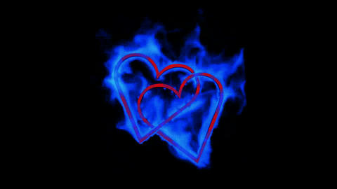 burning blue heart,valentine's day energy heart Stock Video Footage