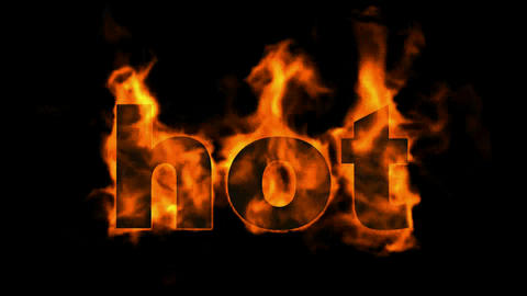 burning hot text Stock Video Footage