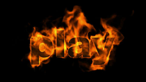 sign fire play word Animation