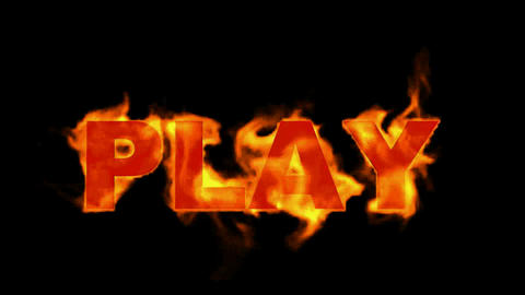 play word,fire sign Stock Video Footage