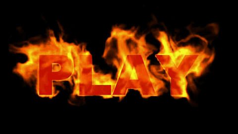 play word,fire sign Animation